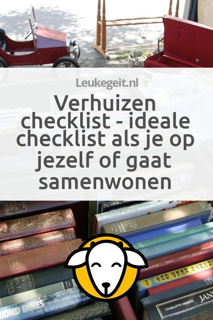 Verhuizen checklist ideale checklist als je op jezelf of for Checklist verhuizen