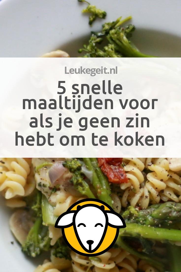 gerechten om te koken