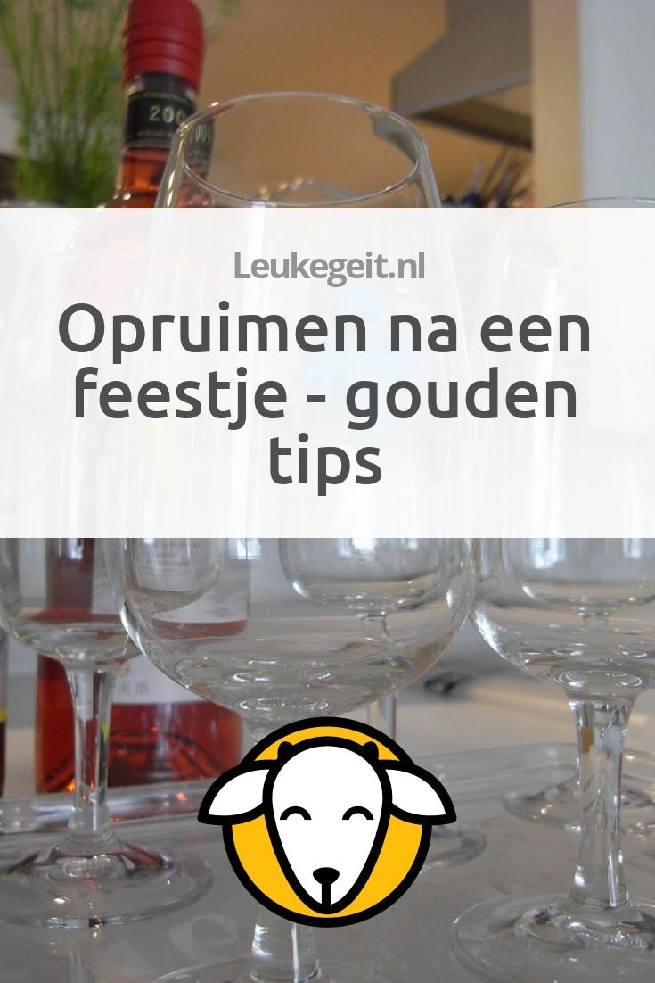 Opruimen na een feestje gouden tips leukegeit for Huis opruimen tips
