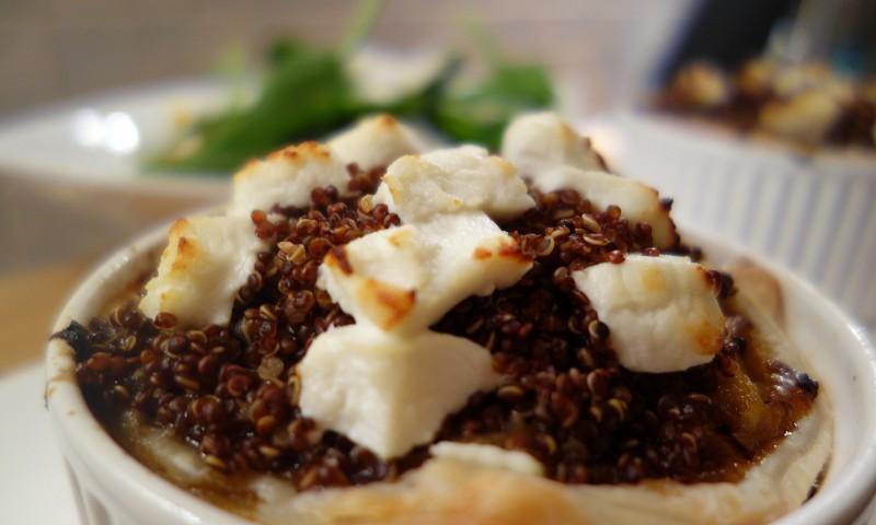 Recept – prei-geitenkaas-taart met quinoa