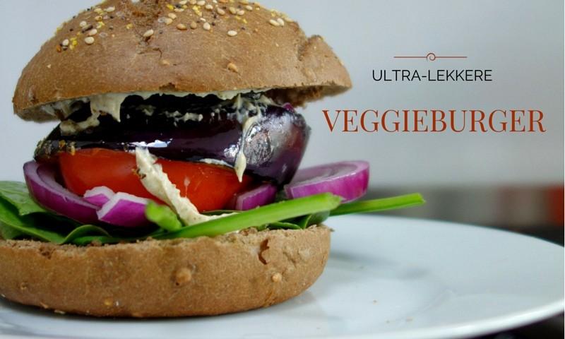 Veggieburger recept van aubergine en hummus