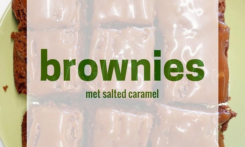 Salted caramel brownies – voor een zoete craving