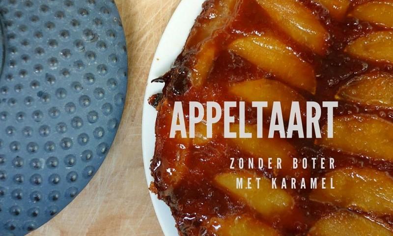 Appeltaart met een vleugje karamel – zonder ei en boter