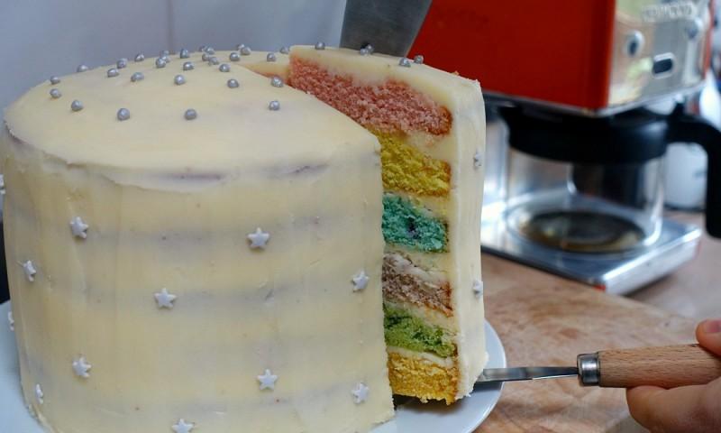 Regenboogcake – must make voor alle zoetekauwers