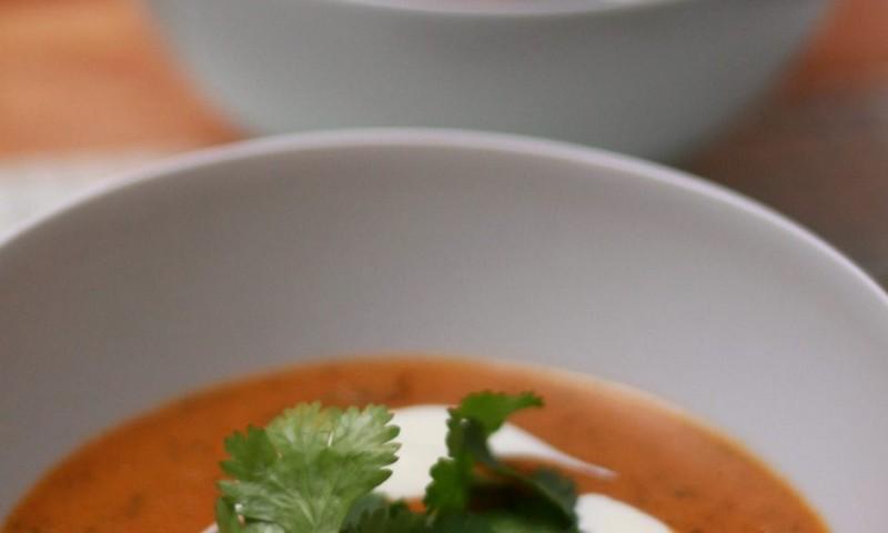 Geroosterde tomatensoep