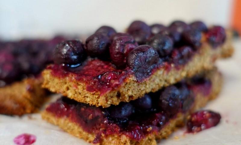 Krokante koekjes met blauwe bessen – nog bijna gezond ook