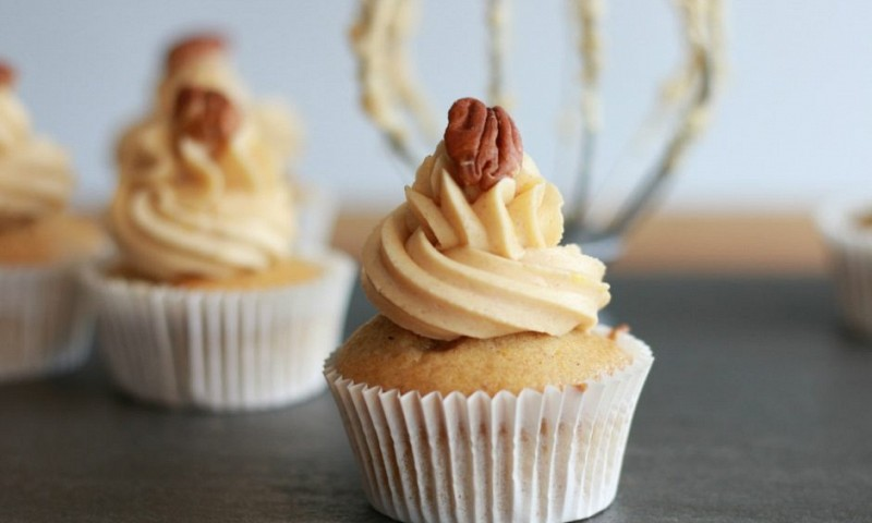 Vegan pompoen cupcakes (+ video)