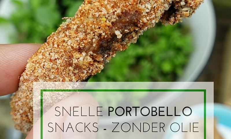 Portobello oven snacks – gezond & zonder olie