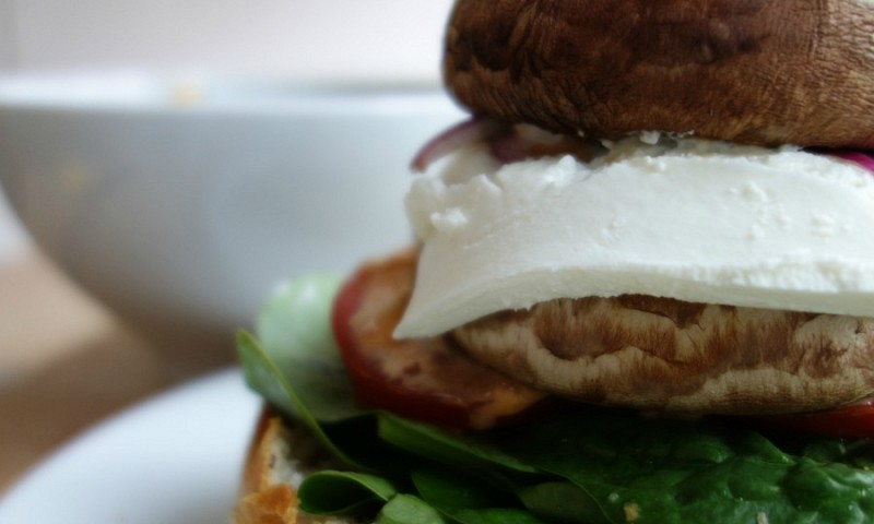 Portobello vegaburger – niks schimmelachtigs aan