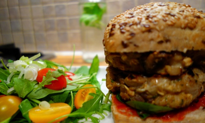 Shiitake paddenstoel burger