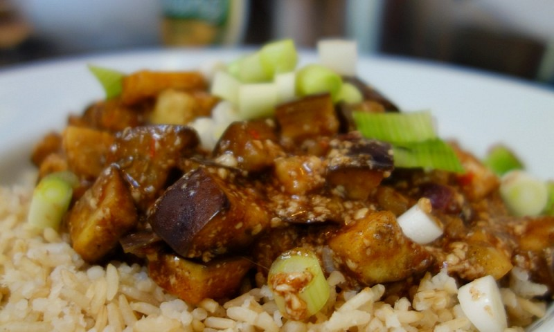 Mapo tofu met aubergine – Chinees recept