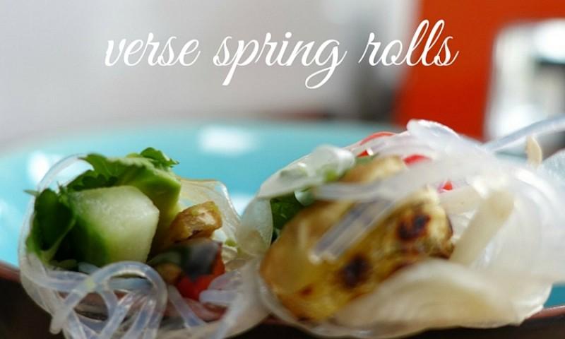 Verse spring rolls met hoisin saus