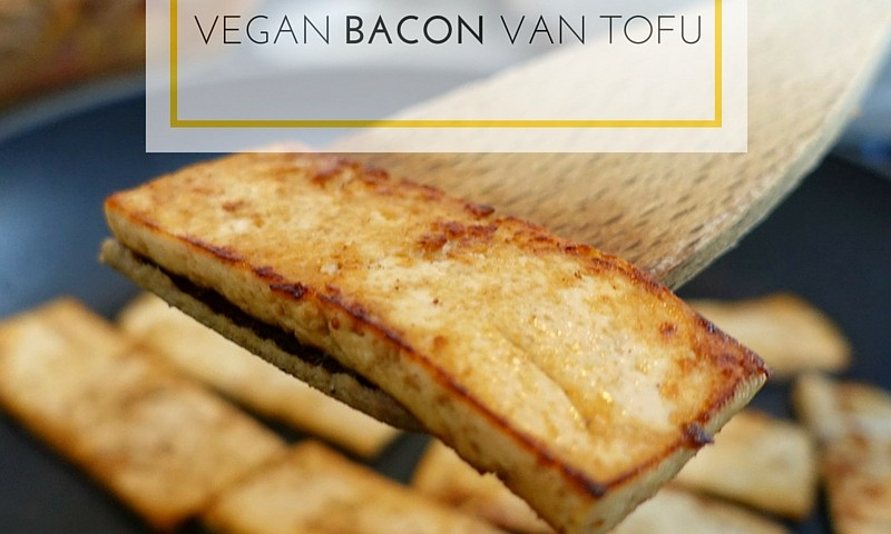 Vegan bacon van tofu