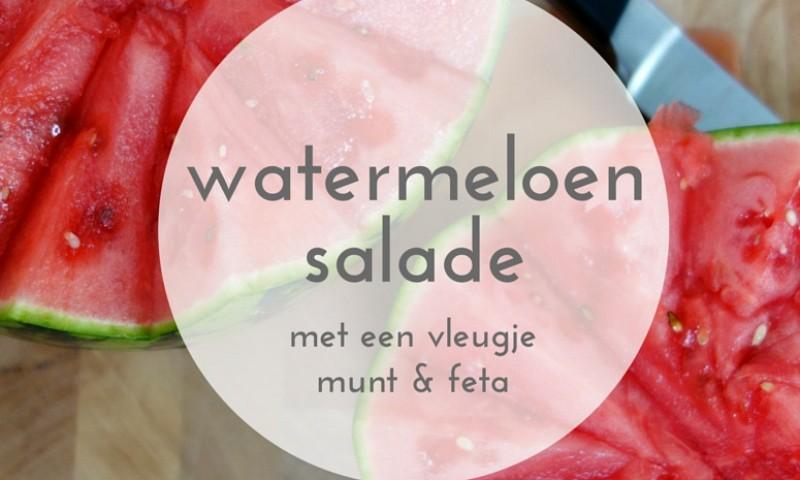 Watermeloen salade met feta – frisse zomerse salade