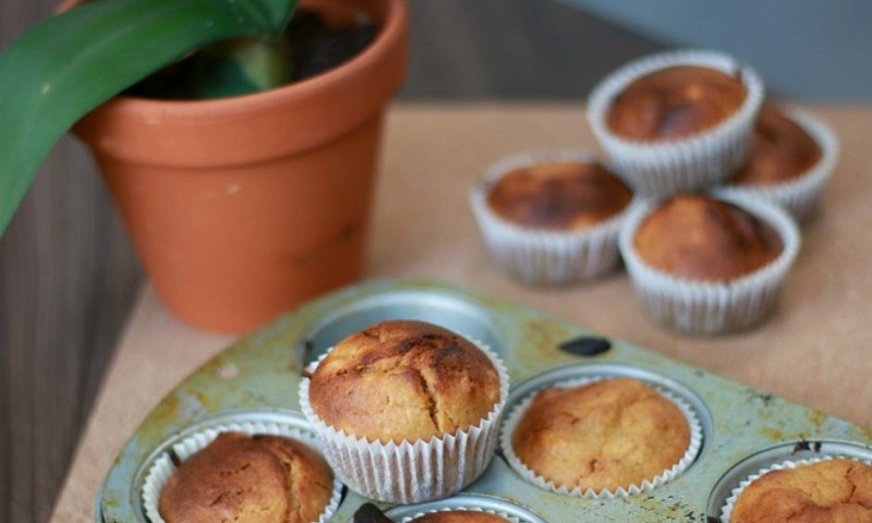 Zoete aardappelmuffins