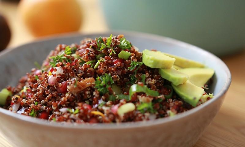 Vegan quinoa salade