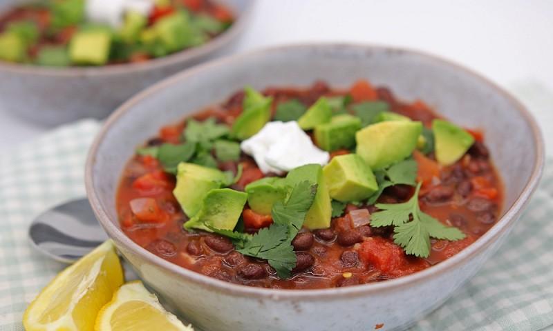 Makkelijke zwarte bonen chili