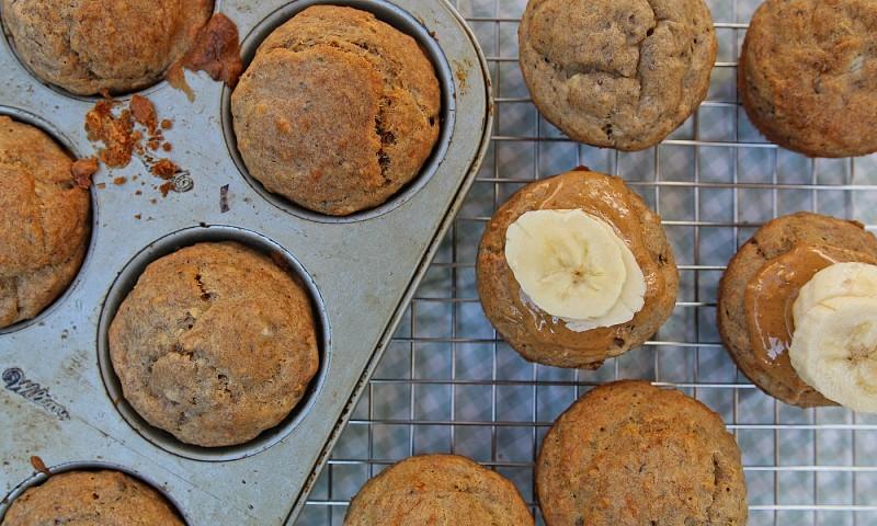 Gezonde bananenmuffins zonder suiker