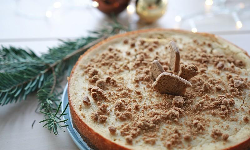 Vegan speculaas cheesecake