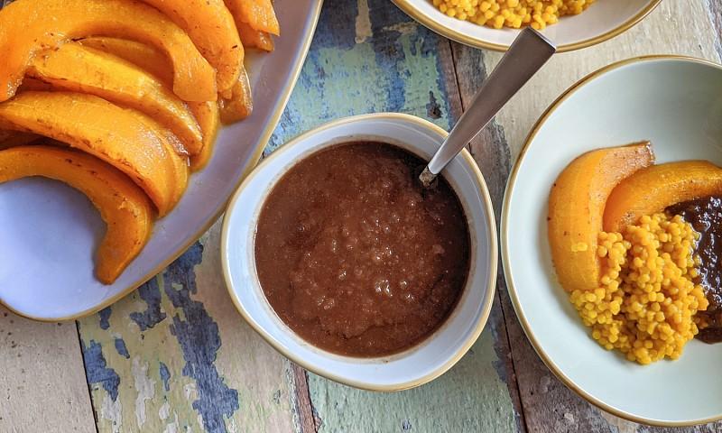 Perzich recept – Fesenjan saus met pompoen