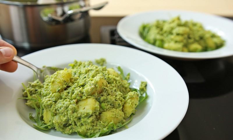 Pasta met broccoli pesto & erwten