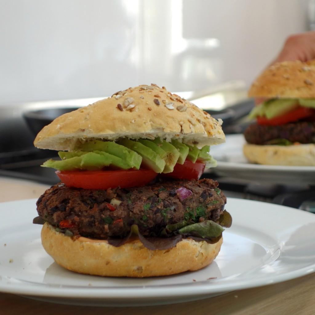 Zwarte bonen veggieburger