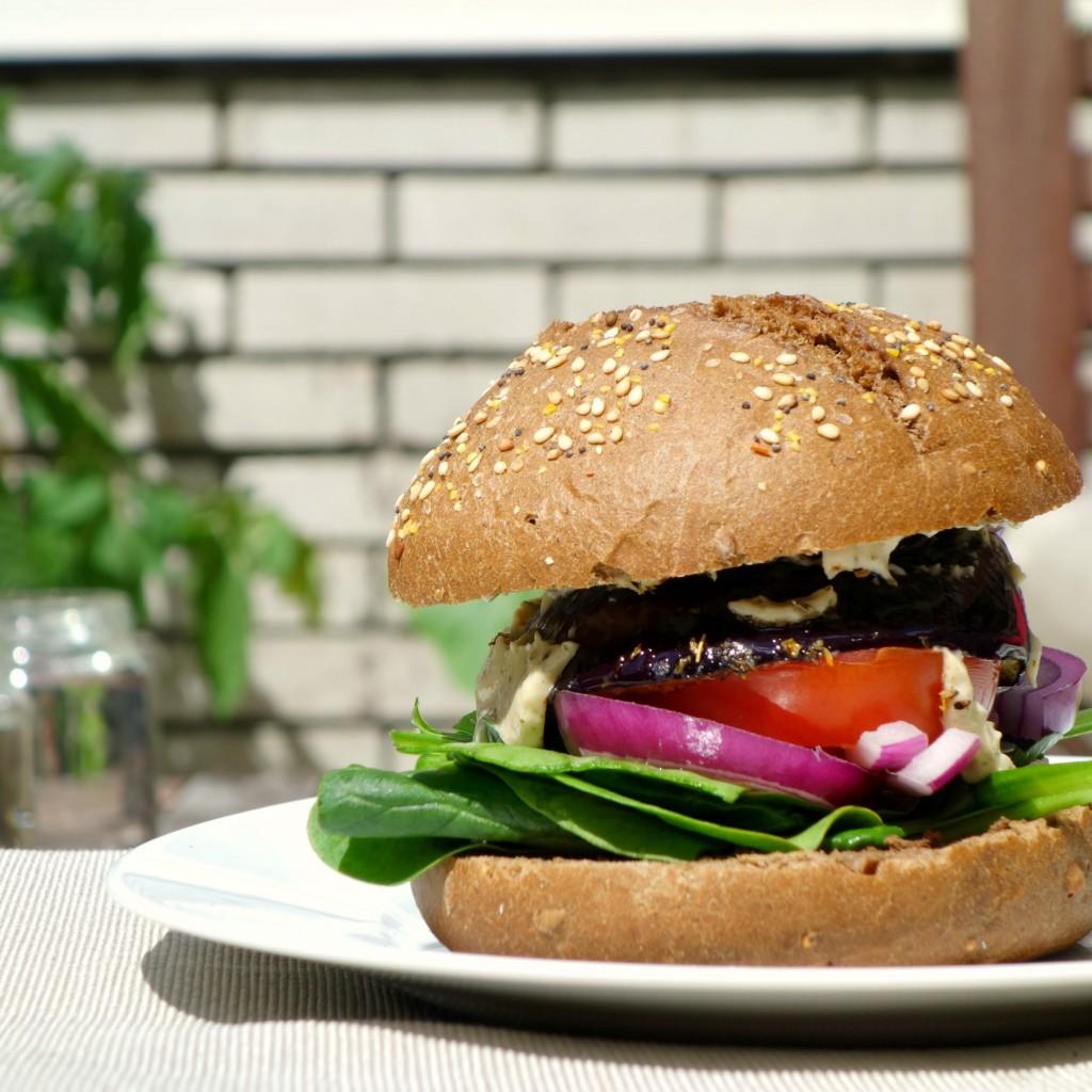 veggieburger recept