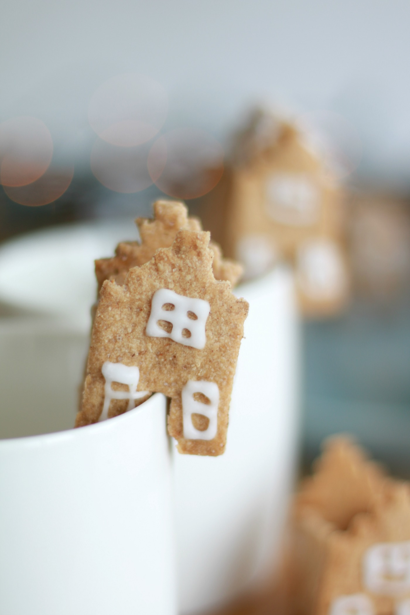 Delftse huisjes van koek