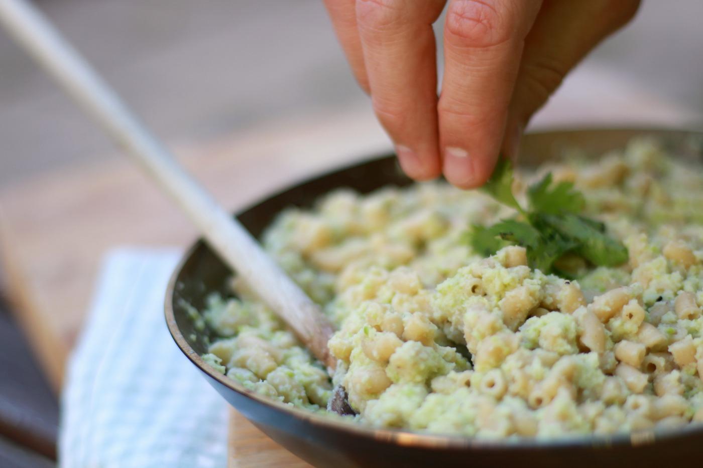 snelle en gezonde recepten - Mac en cheese met bloemkool