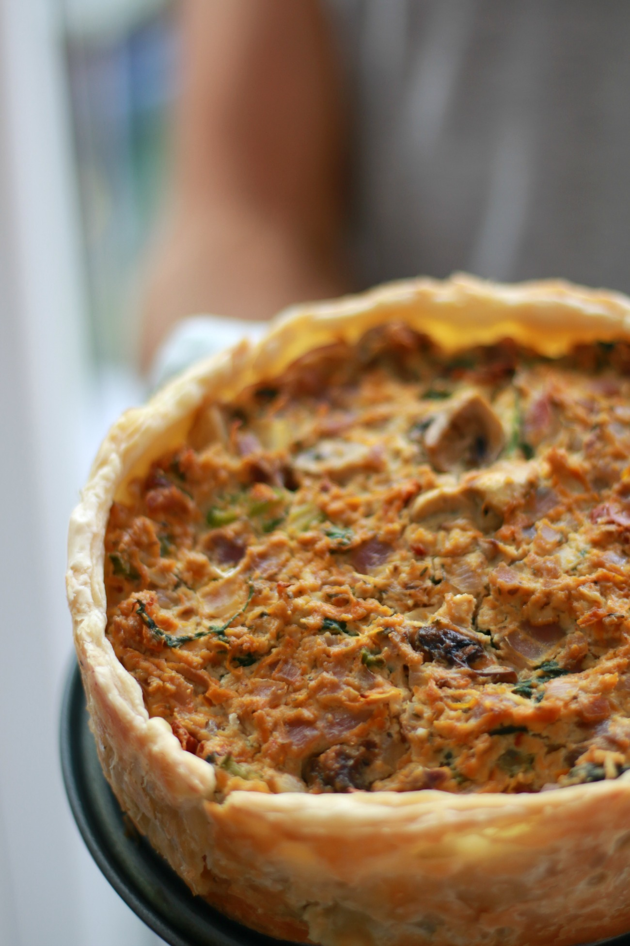 vegan quiche recept