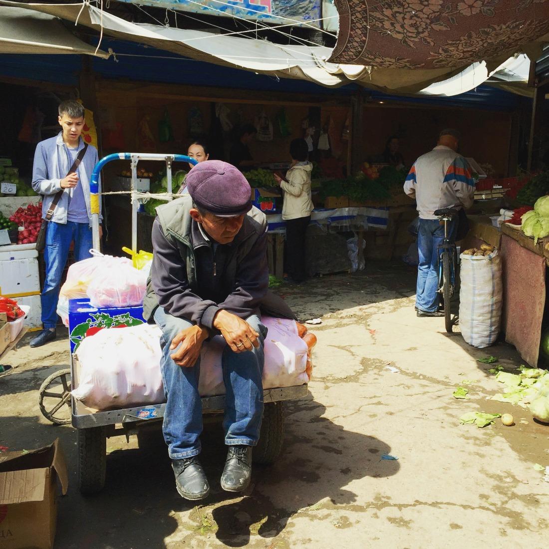 Markt in Bishkek, Kirgizië