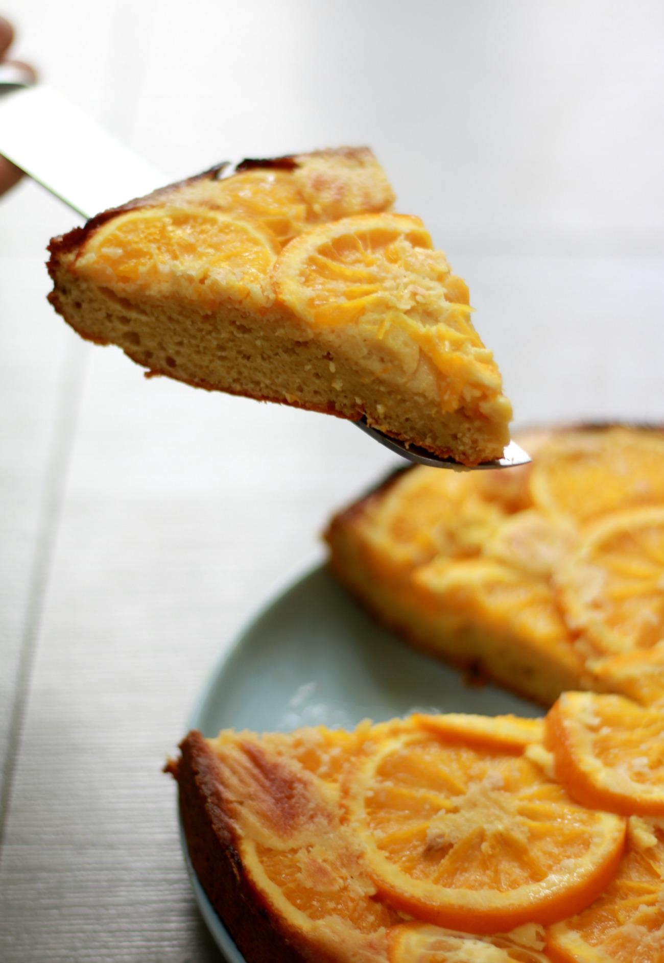 sinaasappelcake zonder suiker