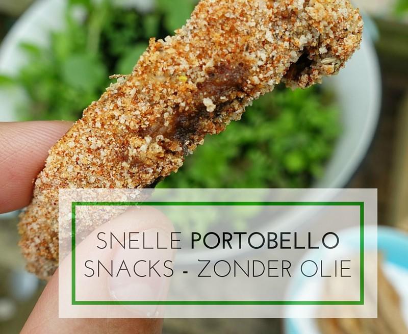 vegan portobello snack