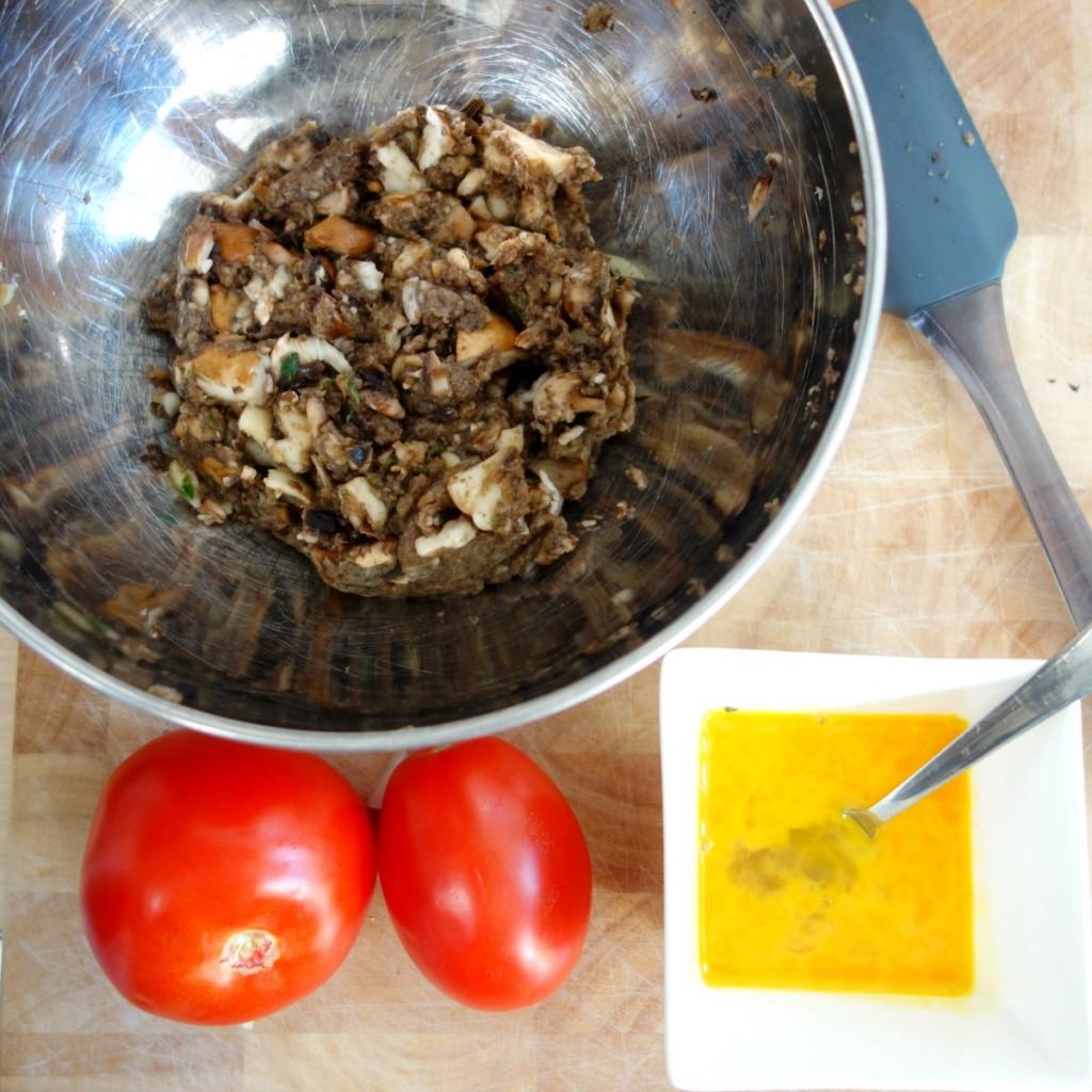 vegaburger recept - linzen, champignons en geitenkaas