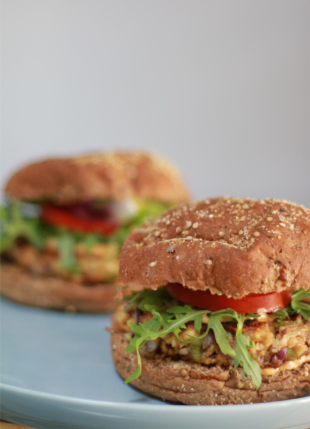 vegan burger recept - tofu burger