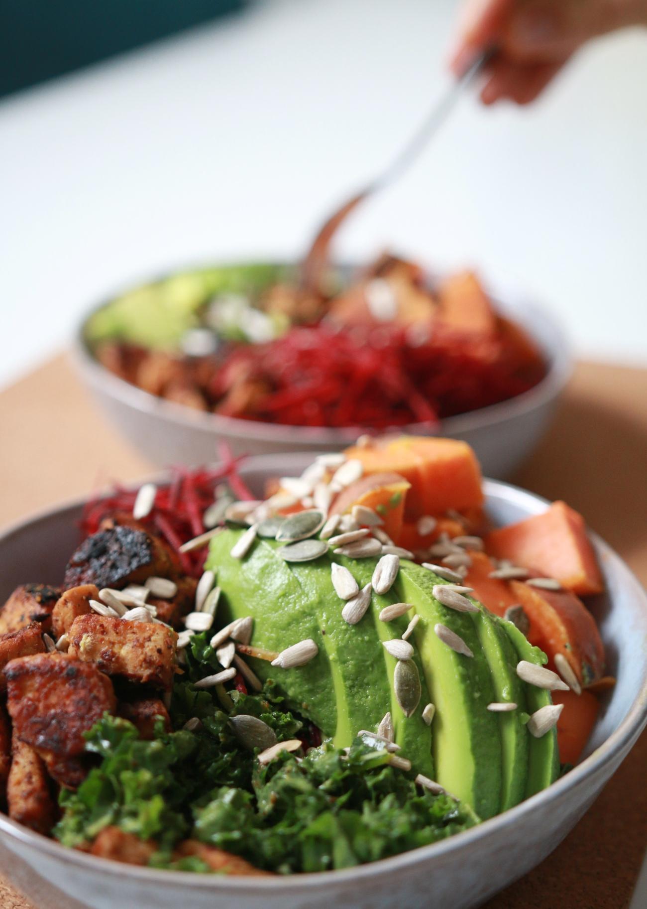 gezonde tempeh salade