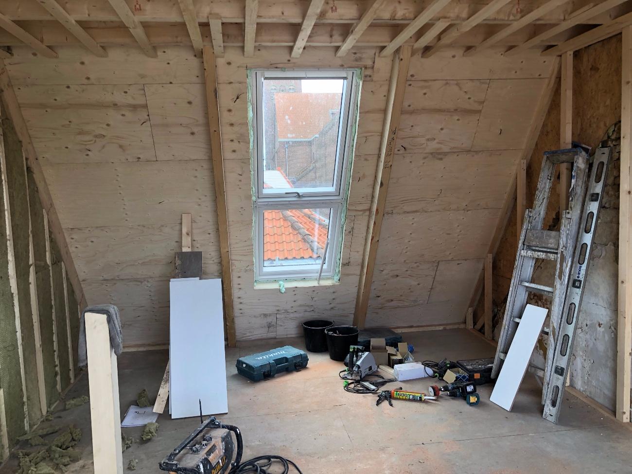 Onze opbouw begint langzaam vorm te krijgen. :)