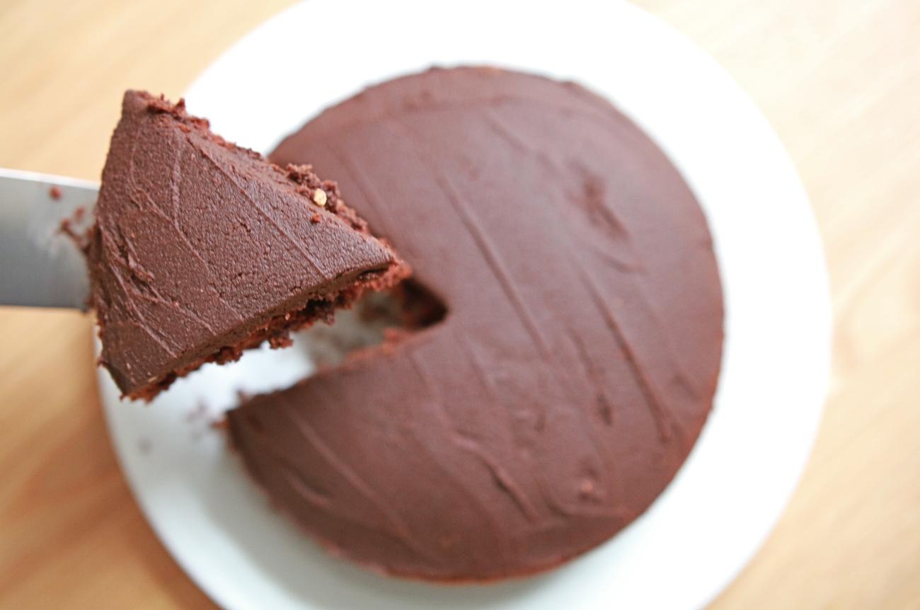 vegan chocoladetaart recept