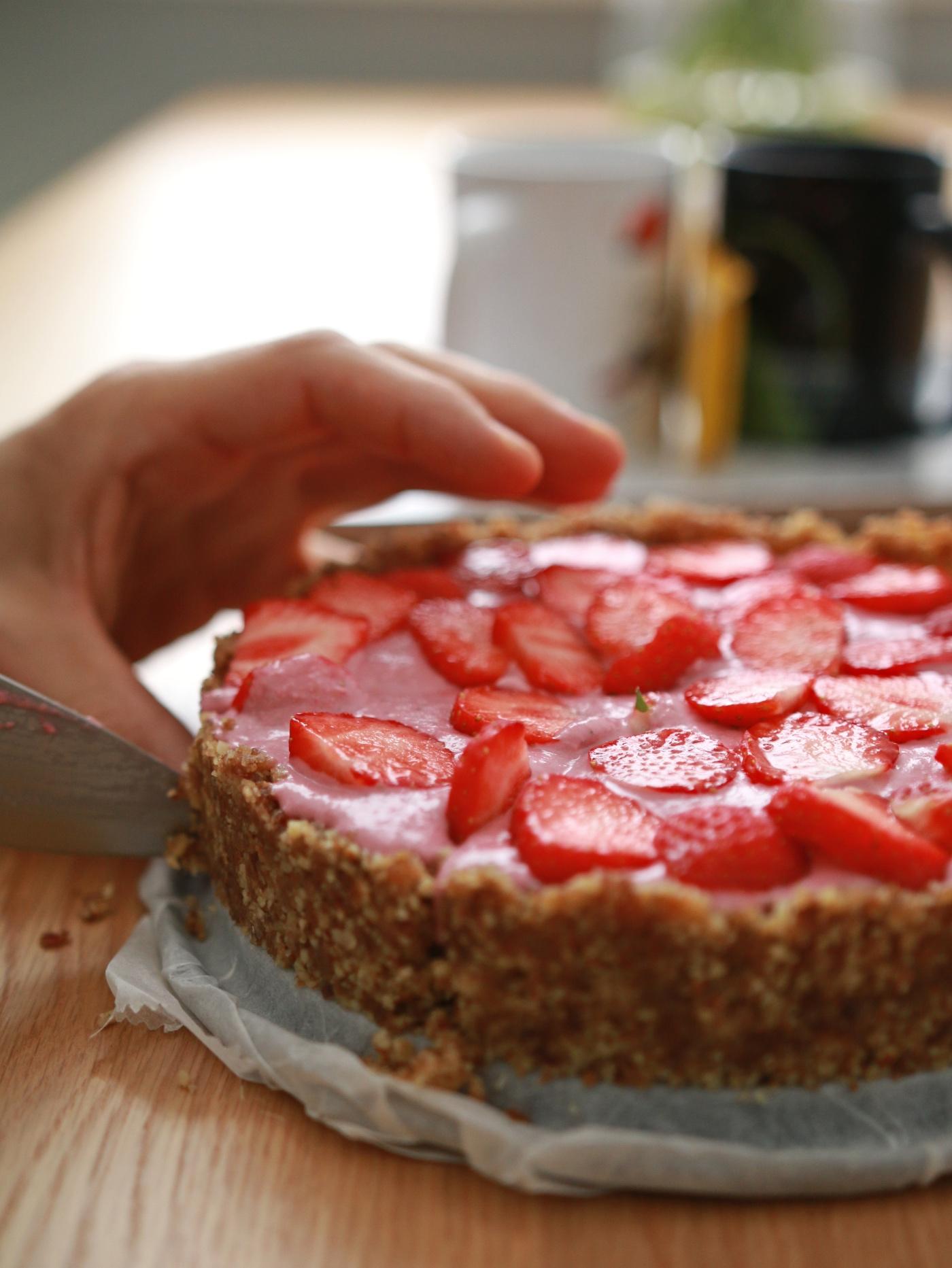 recept voor gezonde aardbeientaart