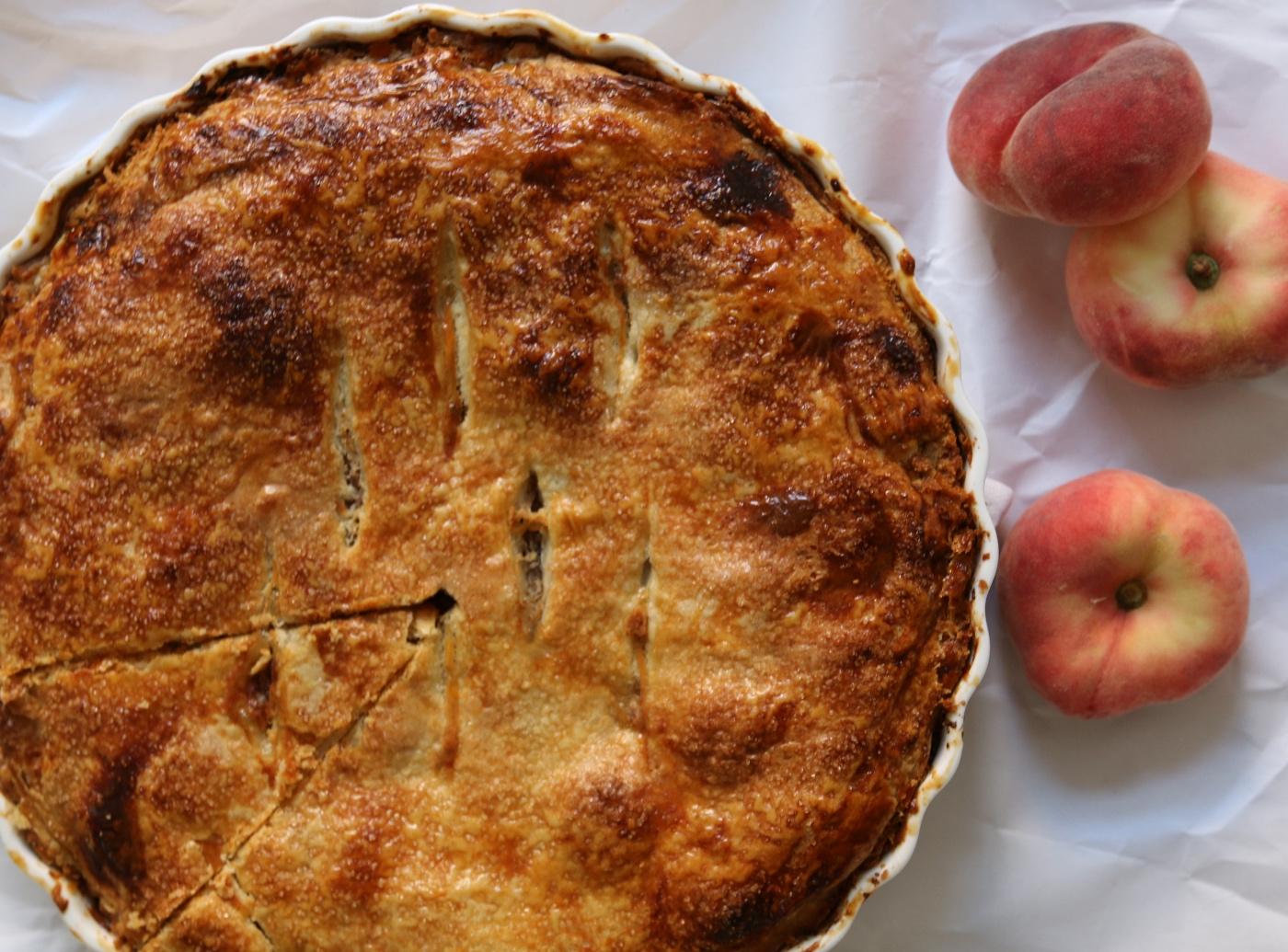 Wilde perzik taart