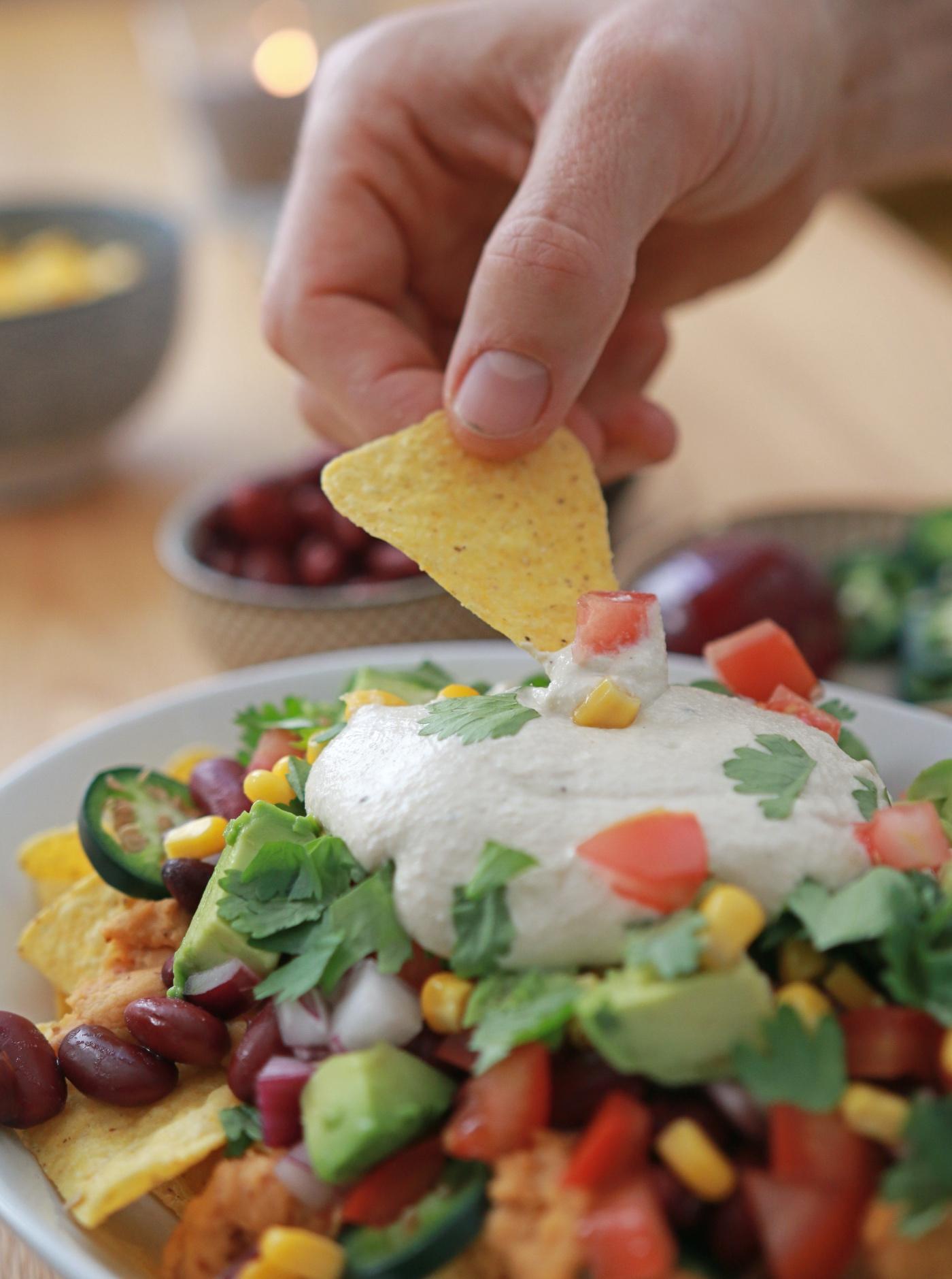 Mijn versie voor vegan nachos - zo lekker!