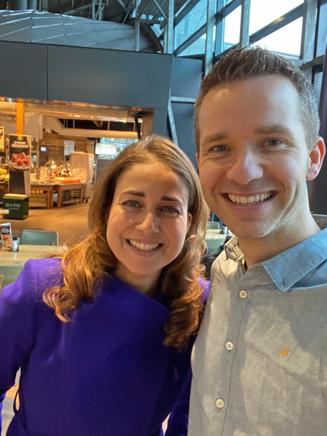 Birgit en Billy op Schiphol