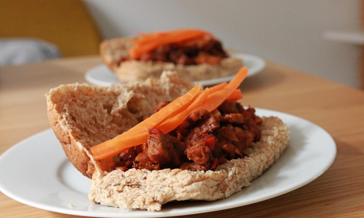 tempeh marineren - broodje tempeh maken