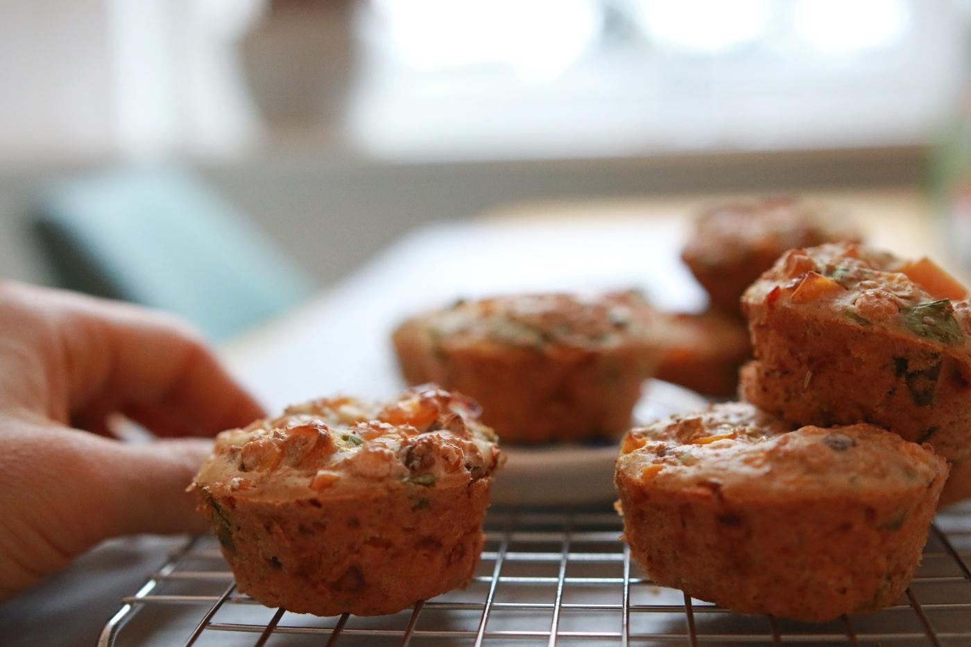 gezonde, hartige muffins recept