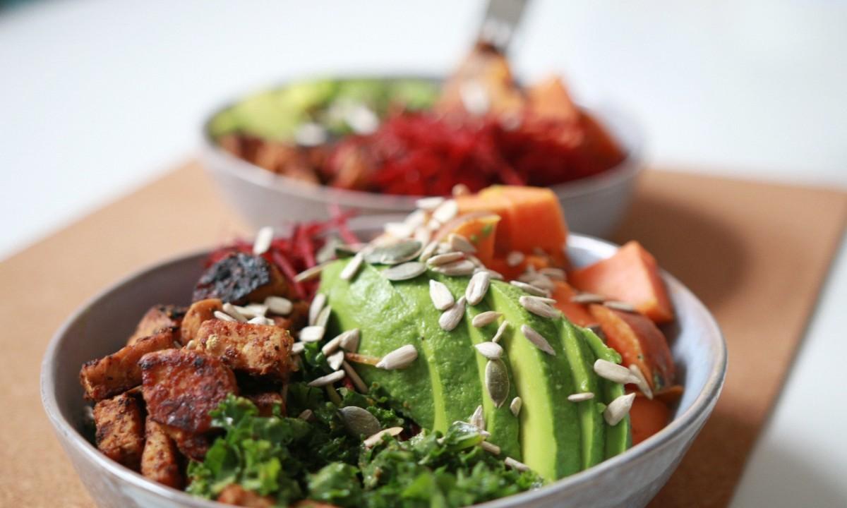 tempeh recept - gezonde salade