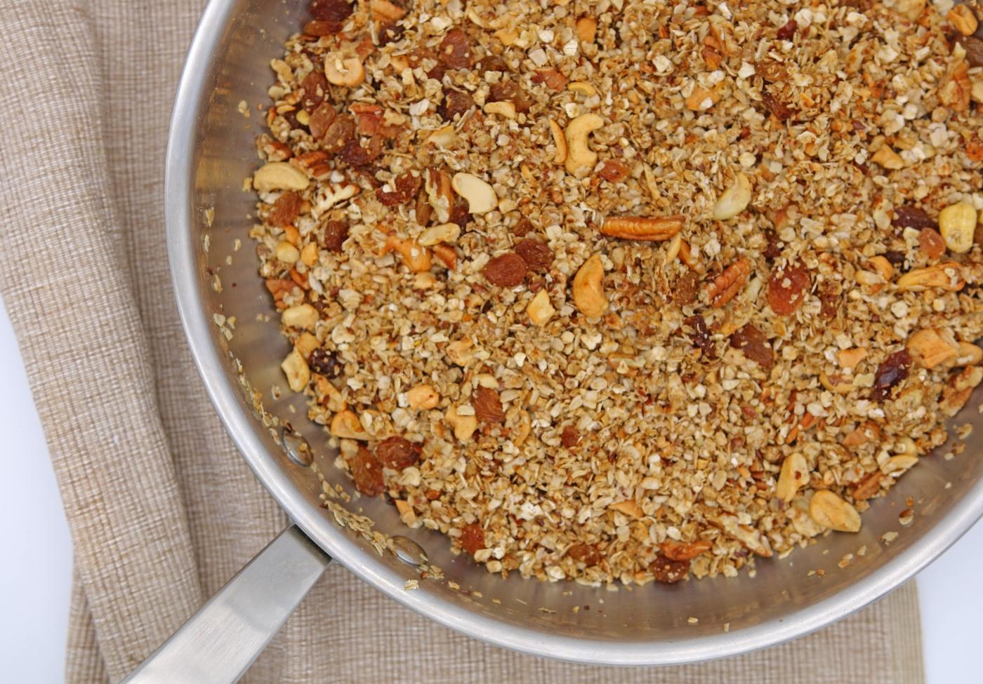 granola recept uit de pan