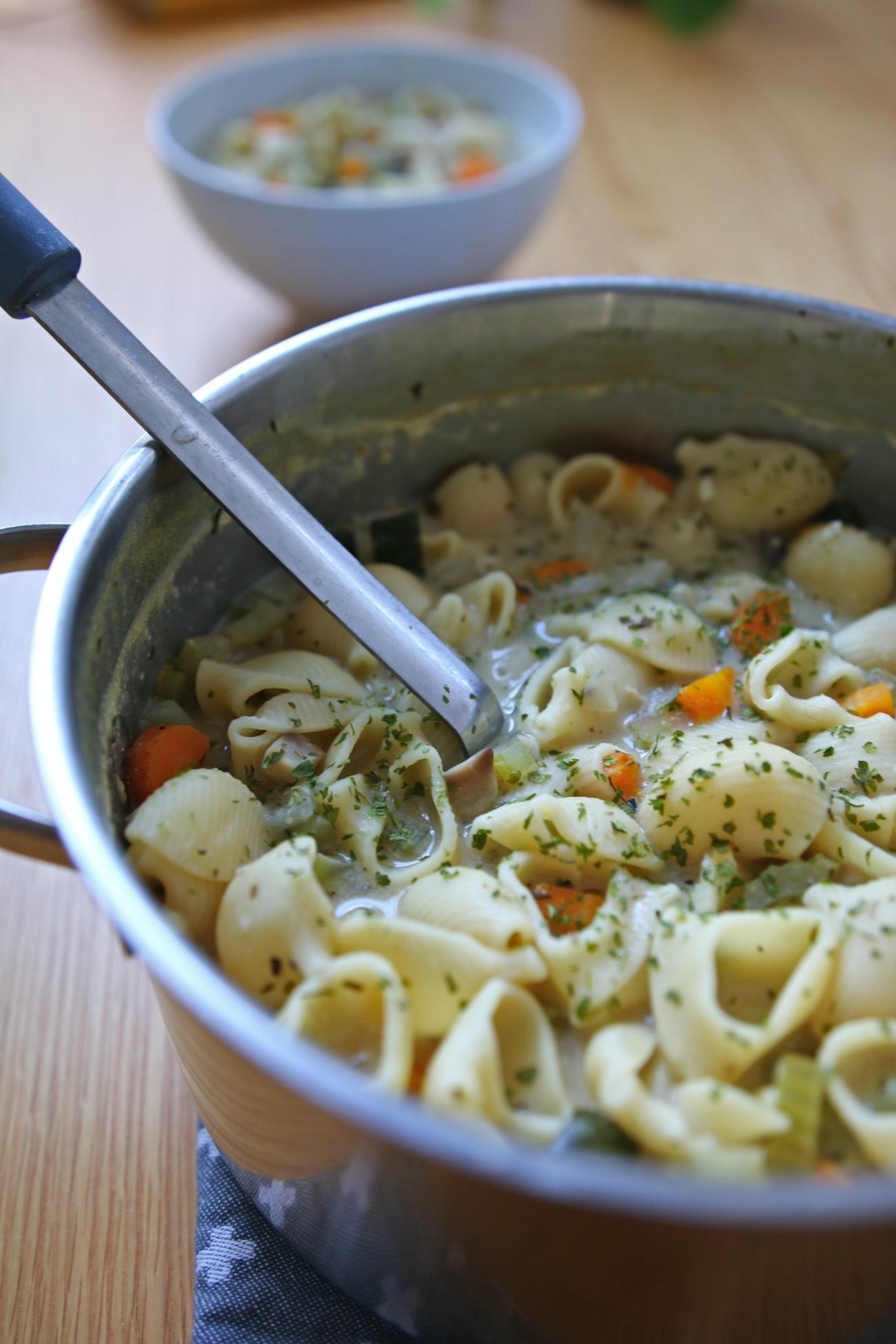 pastasoep recept
