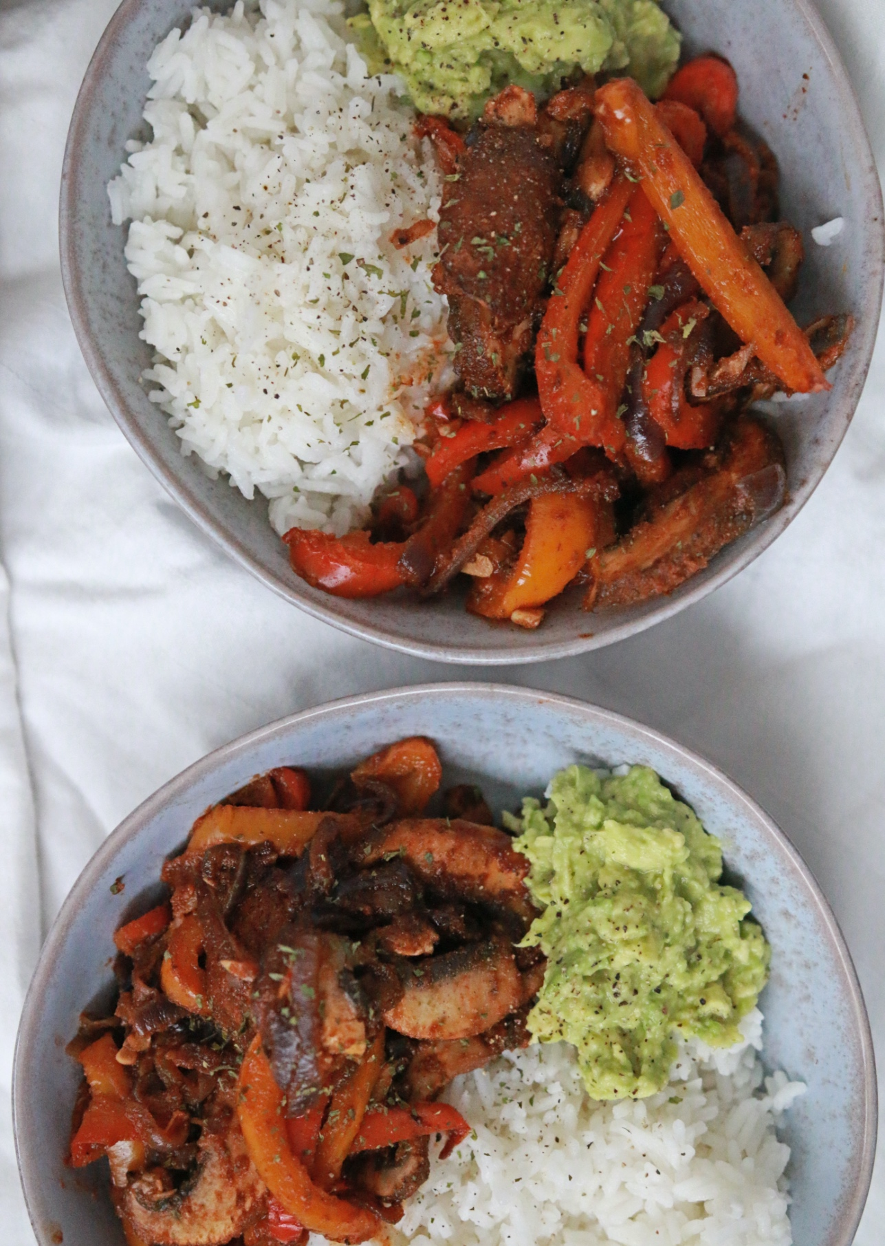 vegan fajita bowl - recept