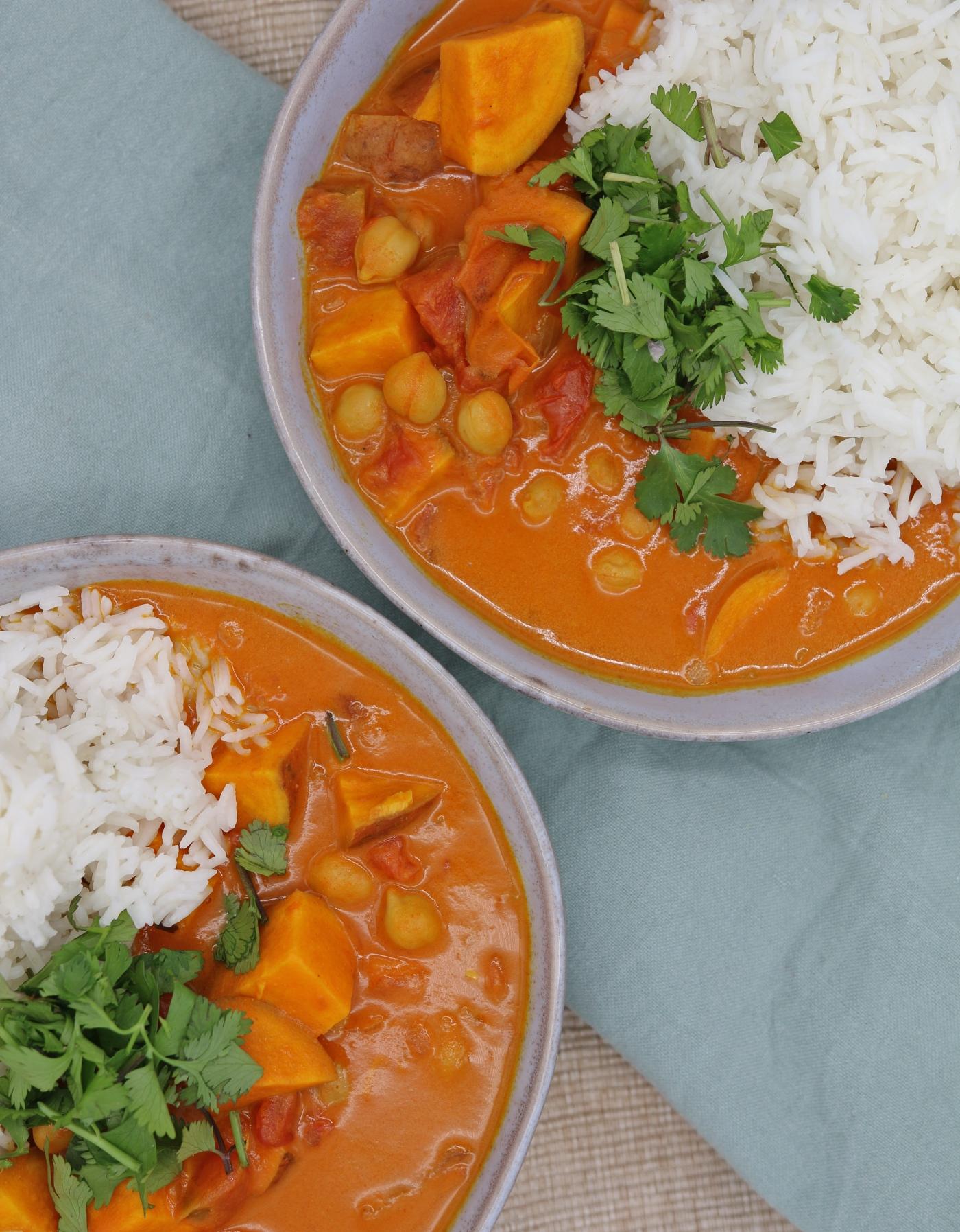 Recept voor zoete aardappelcurry