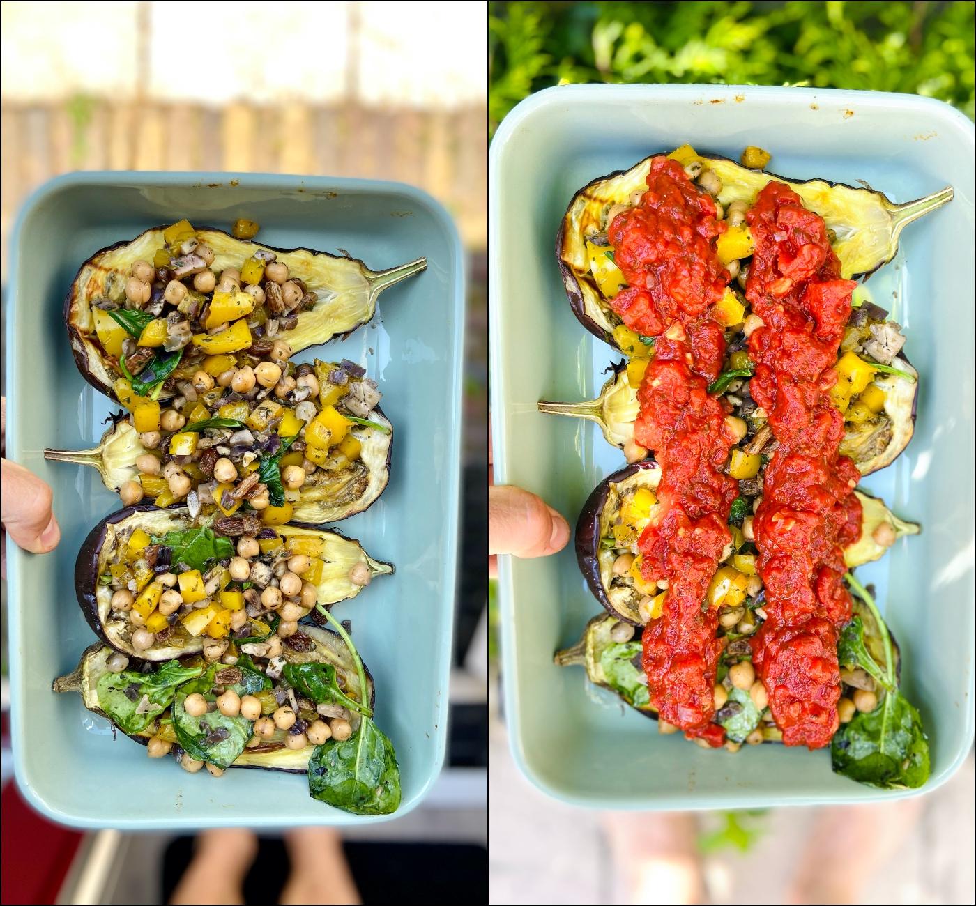 Gevulde aubergine uit de oven recept